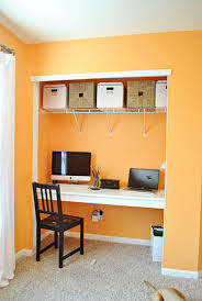 simple home office setup nice colorful decors with laptop desk i35