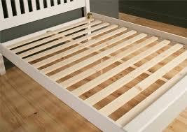 Slatted Bed Frames Shaker White Wooden King Size Bed Frame Lfe Painted Wood