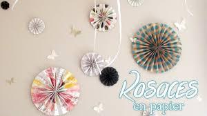 suspension origami diy diy deco fabriquer des rosaces en papier youtube