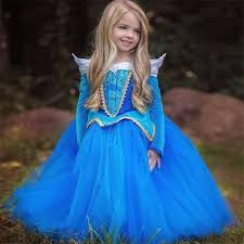 Halloween Costume Kids Girls Aliexpress Buy Princess Sleeping Beauty Aurora Dress