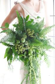 wedding flowers greenery these all greenery bridal bouquets are a major 2017 wedding trend