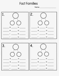 blank fact family worksheets kiddo shelter math for first grade