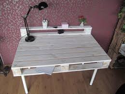 Diy Study Desk Pallet Desk With Reclaimed Hairpin Legs Pallet Furniture Plans