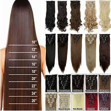 hair extension clips human clip in hair extensions ebay