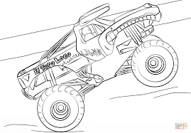 grave digger coloring page free printable monster truck coloring