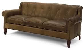 Tufted Faux Leather Sofa by Elegant Wood And Leather Sofa Mid Century Modern Wooden Frame