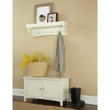 Furniture With Storage Alaterre Furniture Shaker Cottage Ivory Hall Tree With Storage