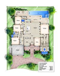 anna coastal floor plan 4 bedroom 4 1 2 bath 1 story 2 car no pool add a car garage luxury style house plans 4016 square foot home 1 story 4 bedroom and 4 3 bath 2 garage stalls by monster house plans plan
