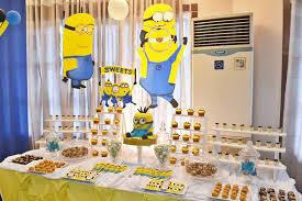 minion baby shower decorations minion party decoration ideas dessert table tierra este 50730