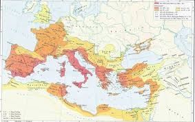 Roman World Map by The Roman Empire 200 Bc 117