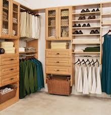 closet organization ideas made of maple wood in cream lacquer
