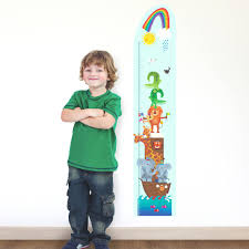 personalised childrens noahs ark height chart sticker by kali