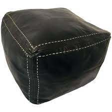 black leather square ottoman leather square ottoman this large square ottoman comes in rich brown