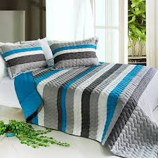 Blue Striped Comforter Set Bed Linen Inspiring Striped Bedspreads And Comforters Navy And