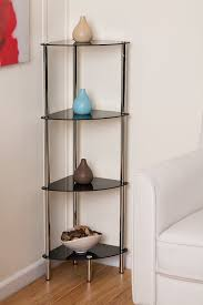 Glass Bathroom Shelving Unit by 4 Tier Black Glass Corner Rack Polo 4 Tier Display Glass Unit