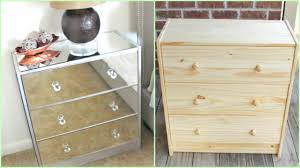 Malm Dresser Painted by Diy Mirrored Nightstands Ikea Hack Youtube