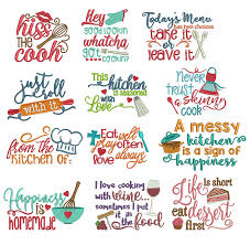 Free Kitchen Embroidery Designs Free Halloween Verses Kitchen Word Art Sayings