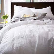 Linen Covers Gray Print Pillows White Walls Grey Modern Duvet Covers West Elm