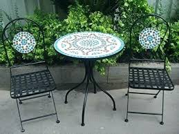 Argos Bistro Table Blue Mosaic Bistro Set With Table And Chairs Classic Vintage Style
