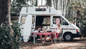 camper van surfing in north spain camper van life with a view of the