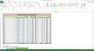Simple Profit And Loss Excel Template P L Spreadsheet Template Haisume