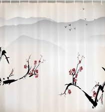 Cherry Blossom Curtains Bird Shower Curtain Ebay