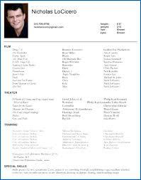 acting resume exle 12 acting resume exle for beginners sleresumeformats234
