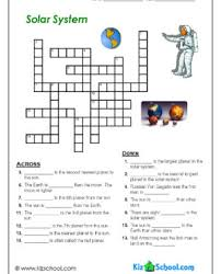 index of kizschool free worksheets solar system crossword page