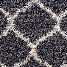 Modern Shaggy Rugs Large Modern Grey Trellis Shaggy Carpet Contemporary Soft