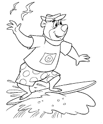 coloring pages of yogi bear yogi bear coloring pages coloringpages1001 com