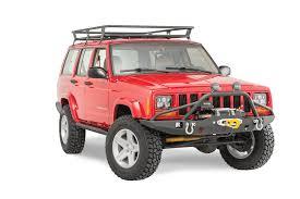 prerunner jeep xj jcr offroad vanguard front winch bumper with prerunner for 84 01