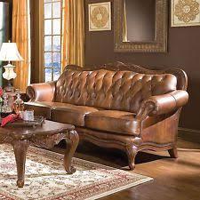 tufted leather sofa ebay