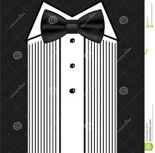 vector bow tie tuxedo invitation design template stock vector