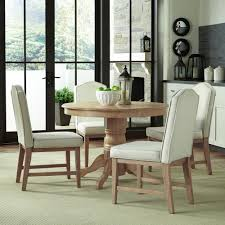 home styles classic 5 piece white wash upholstered dining set 5170