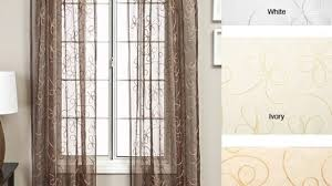 120 Inch Sheer White Curtains Softline Livingston Rod Pocket 120 Inch Curtain Panel 56 X 120 For