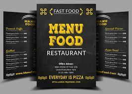 flyer mock up 01 jpg fast food menu design psd idolza