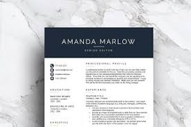 3 page modern resume template resume templates creative market