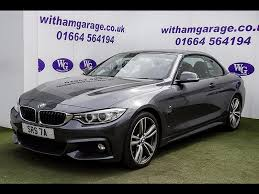 used bmw 4 series cars for sale used 2014 14 bmw 4 series 420d m sport convertible for sale in