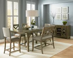 Grey Dining Room by Standard Furniture Omaha Grey 6 Piece Counter Height Trestle