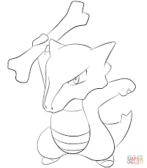 marowak coloring page free printable coloring pages