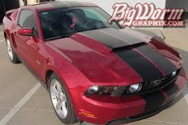 2010 Mustang Gt Black 2010 14 Mustang Wide Center Stripe From Big Worm Graphix