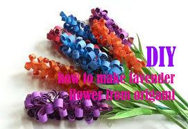 cara membuat bunga dengan kertas hias diy cara membuat bunga lavender cantik dari kertas origami youtube