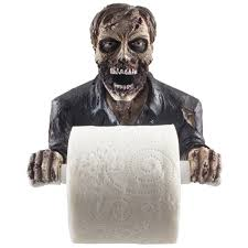 Bathroom Wall Decorations Amazon Com The Undead Graveyard Zombie Decorative Toilet Paper