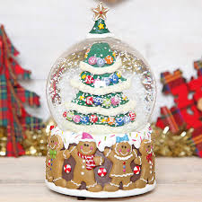 Personalised Snow Globes Tree Decorations Personalised Name Snow Globe Christmas Tree Decoration Modern