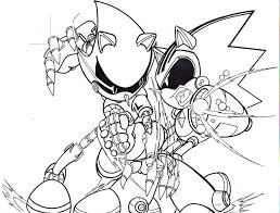 metal sonic coloring pages qlyview com