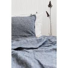 Dark Blue Duvet Linen Duvet Cover Super King
