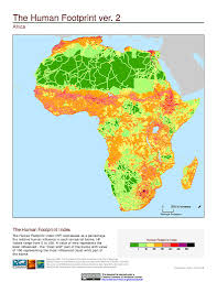 Map Of Africa And The Middle East by Maps Global Human Footprint Geographic V2 Sedac