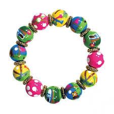 beaded bracelet girl images Golf girl too classic bracelet by angela moore hand painted jpg