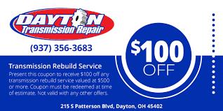 Transmission Rebuild Estimate by Dayton Transmission Repair Complete Expert Repair And Service
