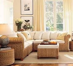 Seagrass Sectional Sofa Seagrass 5 Sectional Living Room Design Idea From Pottery